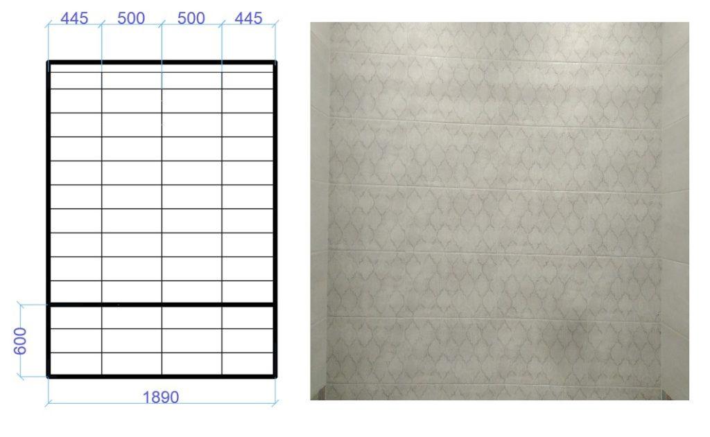 """Пример """"классической"""" раскладки с размерами."""